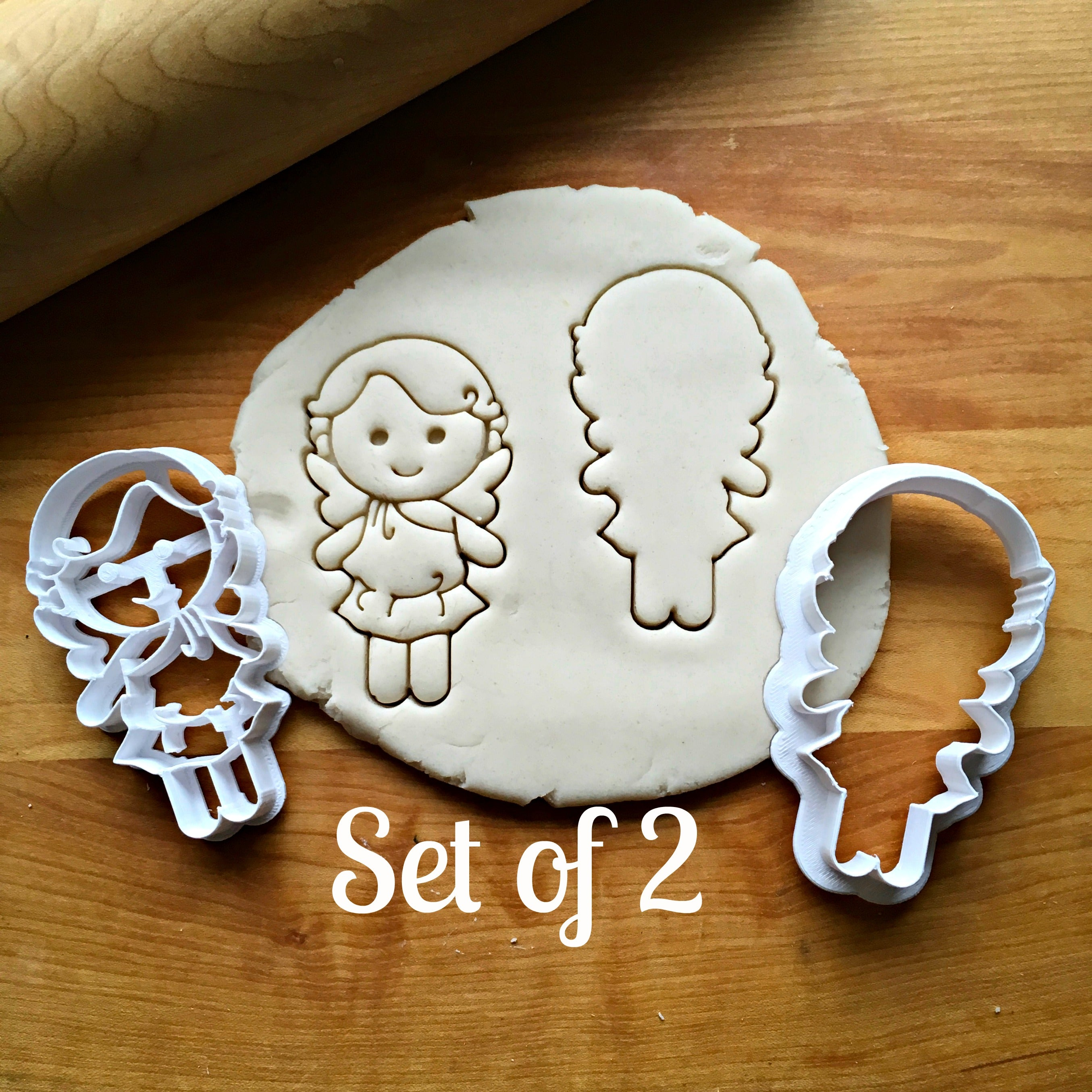 Set of 2 Cupid Cookie Cutters/Dishwasher Safe
