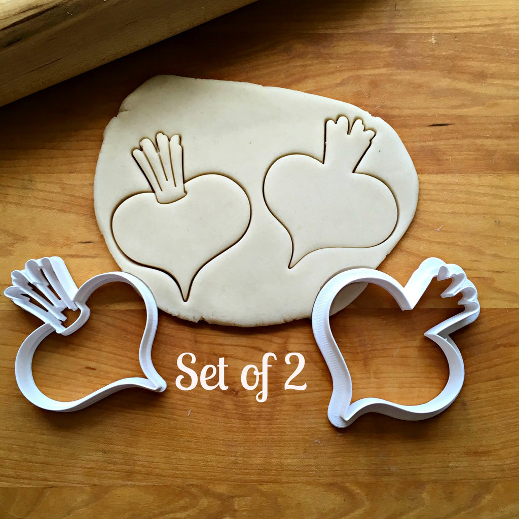 Set of 2 Beet Cookie Cutters/Dishwasher Safe