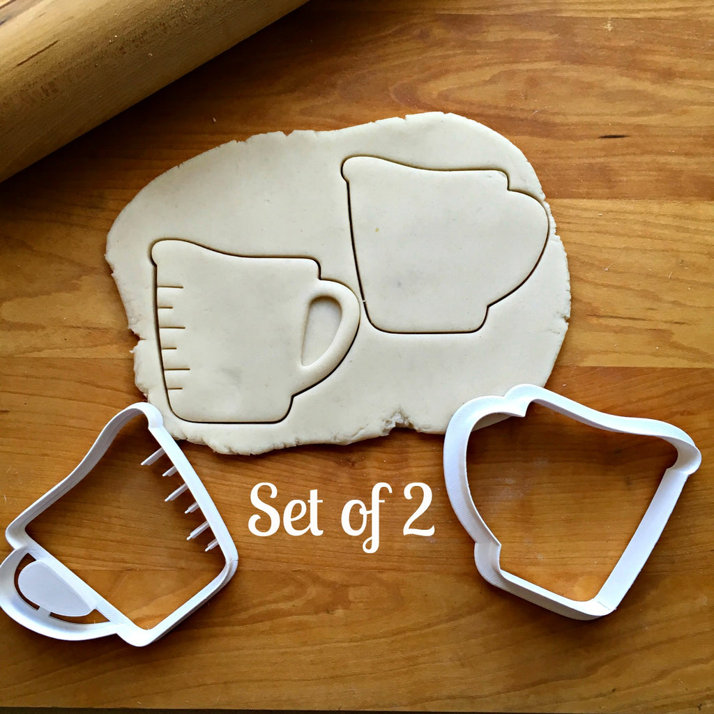 Set of 2 Measuring Cup Cookie Cutters/Dishwasher Safe