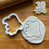 Lettered Number 30 Cookie Cutter/Dishwasher Safe