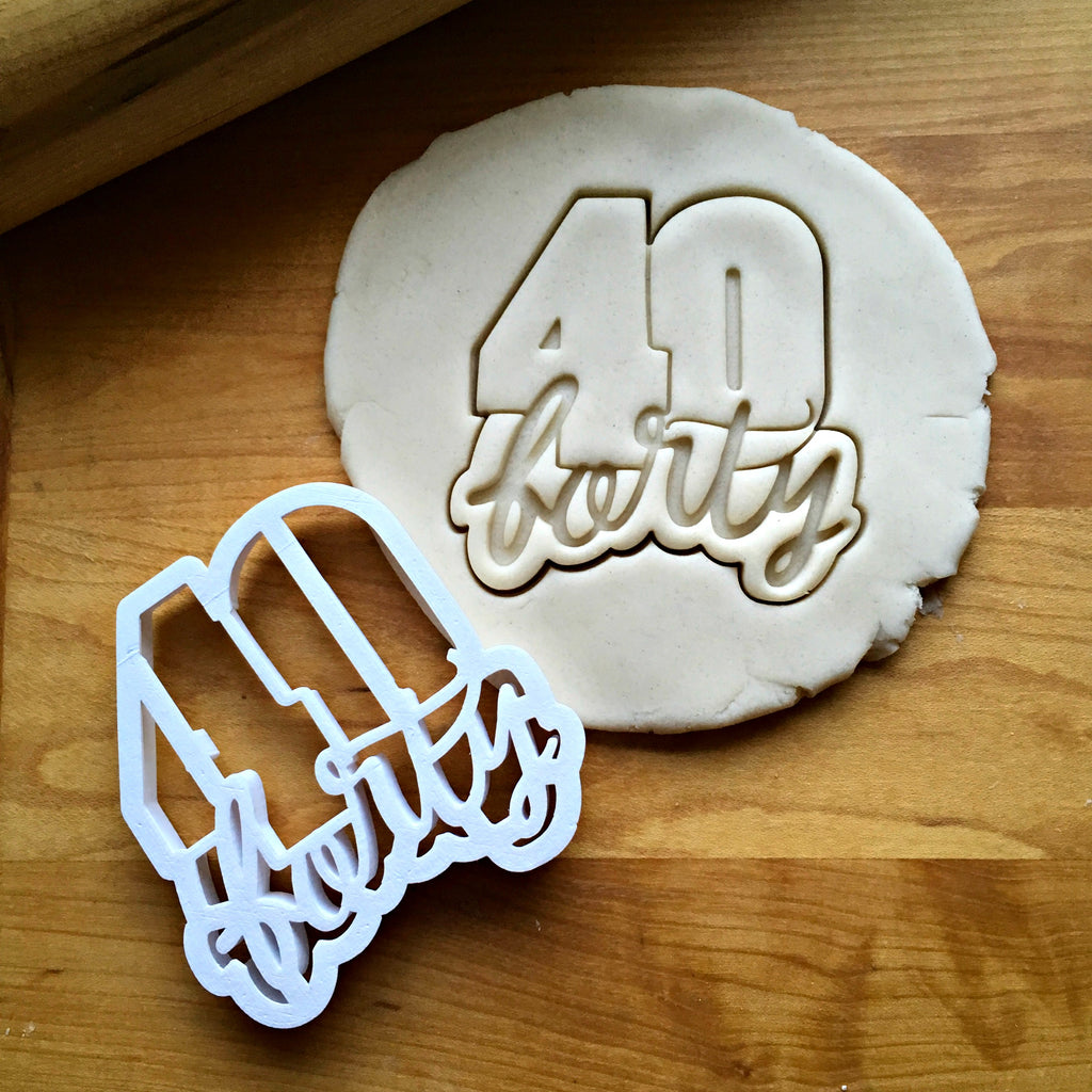 Lettered Number 40 Cookie Cutter/Dishwasher Safe