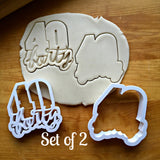 Set of 2 Lettered Number 40 Cookie Cutters/Dishwasher Safe