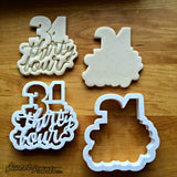 Set of 2 Lettered Number 34 Cookie Cutters/Dishwasher Safe