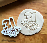 Lettered Number 31 Cookie Cutter/Dishwasher Safe