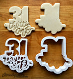 Set of 2 Lettered Number 31 Cookie Cutters/Dishwasher Safe