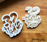 Lettered Number 32 Cookie Cutter/Dishwasher Safe