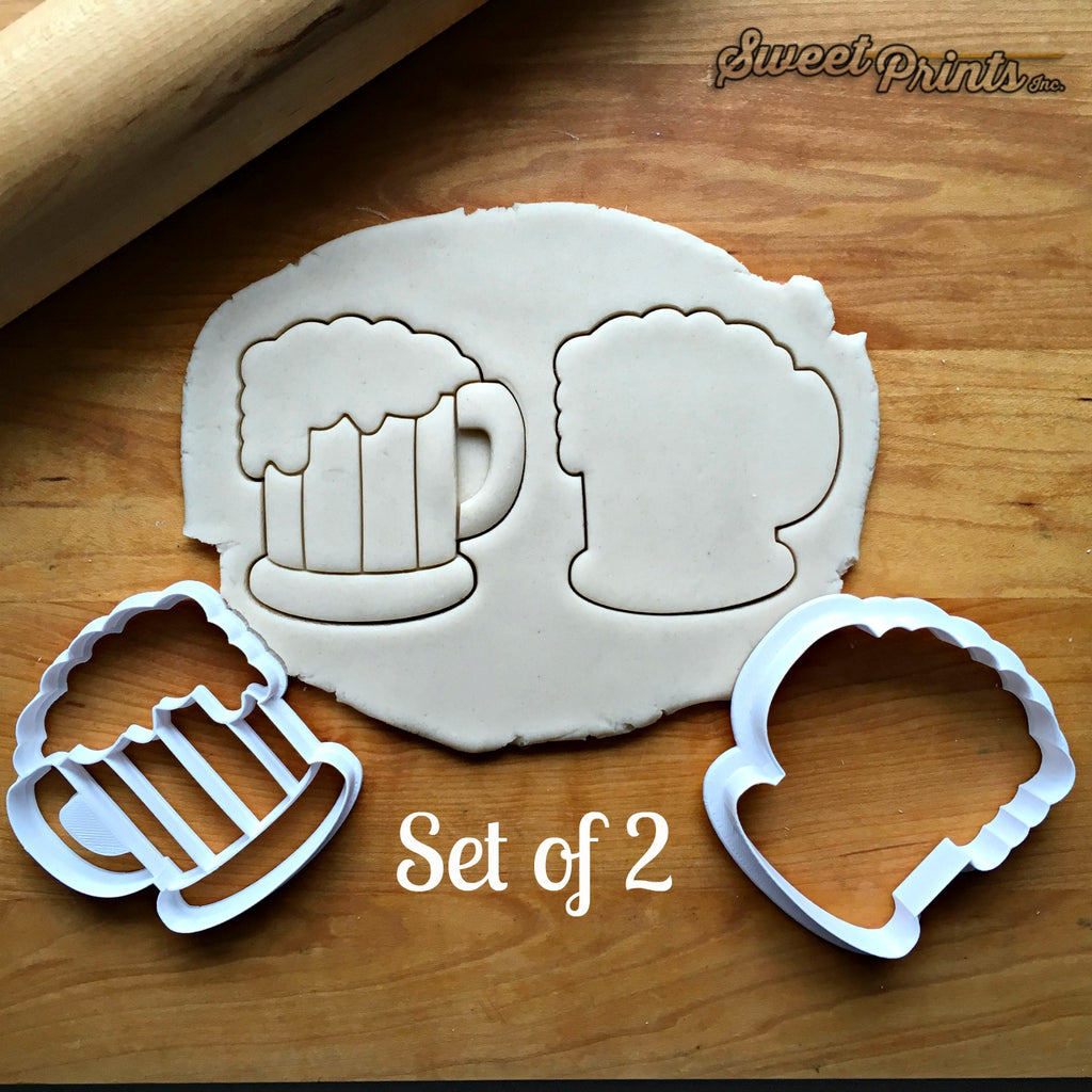 Set of 2 Beer Stein Cookie Cutters/Dishwasher Safe