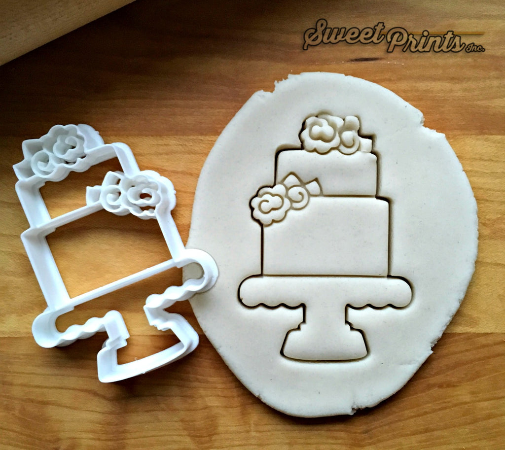 Tiered Cake with Flowers Cookie Cutter/Dishwasher Safe