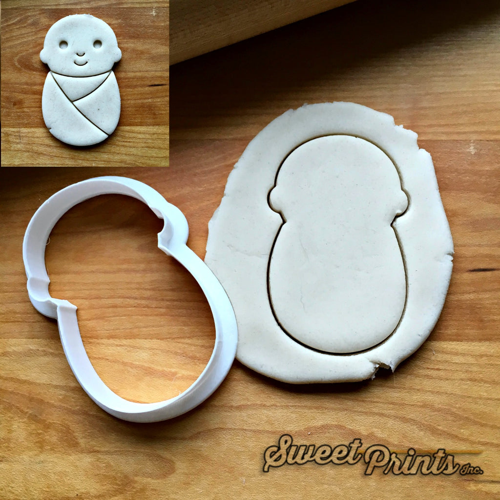 Swaddled Baby Cookie Cutter/Dishwasher Safe