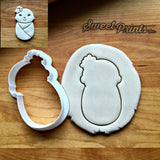 Swaddled Baby Girl with Flowers Cookie Cutter/Dishwasher Safe