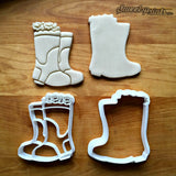 Set of 2 Rain Boots with Flowers Cookie Cutters/Dishwasher Safe