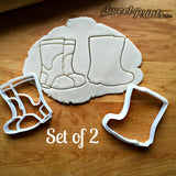 Set of 2 Rain Boots Cookie Cutters/Dishwasher Safe