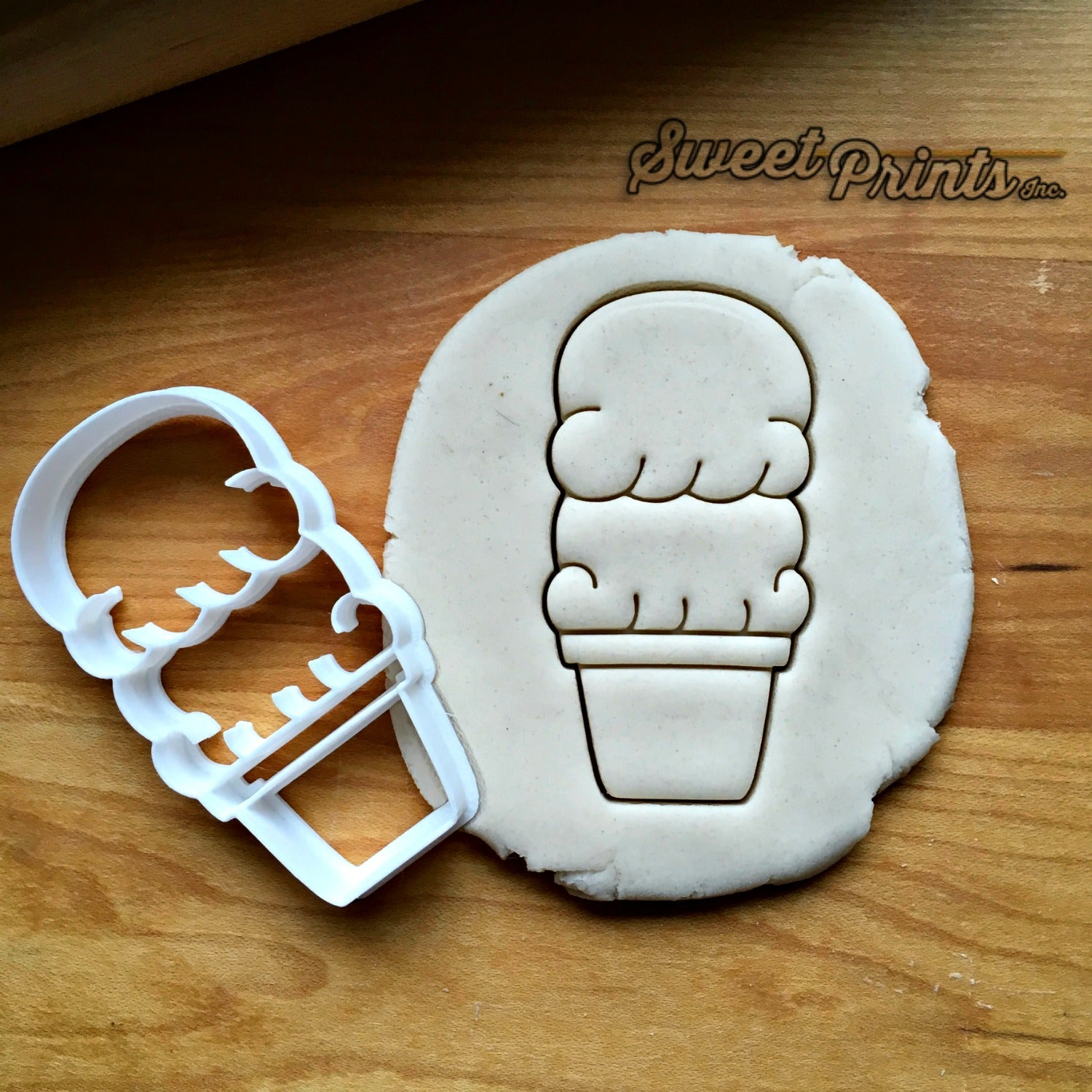 Ice Cream Cone Cookie Cutter/Dishwasher Safe