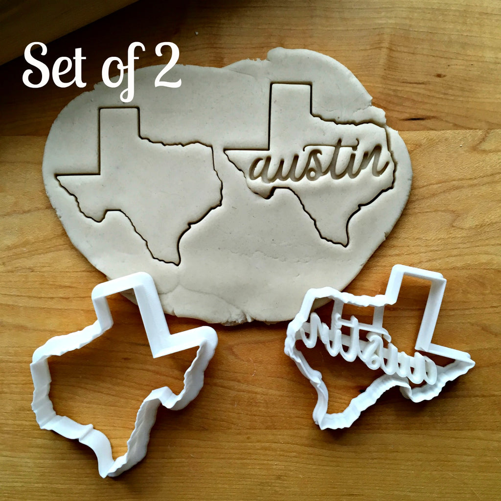 Set of 2 Austin Texas Cookie Cutters/Dishwasher Safe