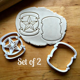Set of 2 Star with Banner Cookie Cutters/Dishwasher Safe