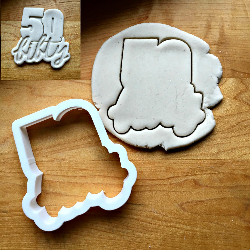 Lettered Number 50 Cookie Cutter/Dishwasher Safe