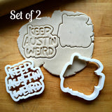 Set of 2 Keep Austin Weird Cookie Cutters/Dishwasher Safe