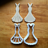 Set of 2 Wedding Dress Cookie Cutters/Dishwasher Safe