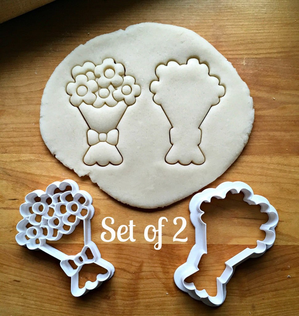 Set of 2 Bouquet of Flowers Cookie Cutters/Dishwasher Safe