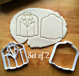 Set of 2 Tuxedo Cookie Cutters/Dishwasher Safe