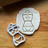 Cat Lingerie/Corset Cookie Cutter/Dishwasher Safe
