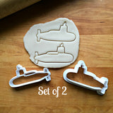 Set of 2 Submarine Cookie Cutters/Multi-Size/Dishwasher Safe