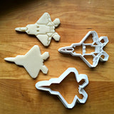 Set of 2 Stealth Fighter Jet Cookie Cutters/Multi-Size/Dishwasher Safe