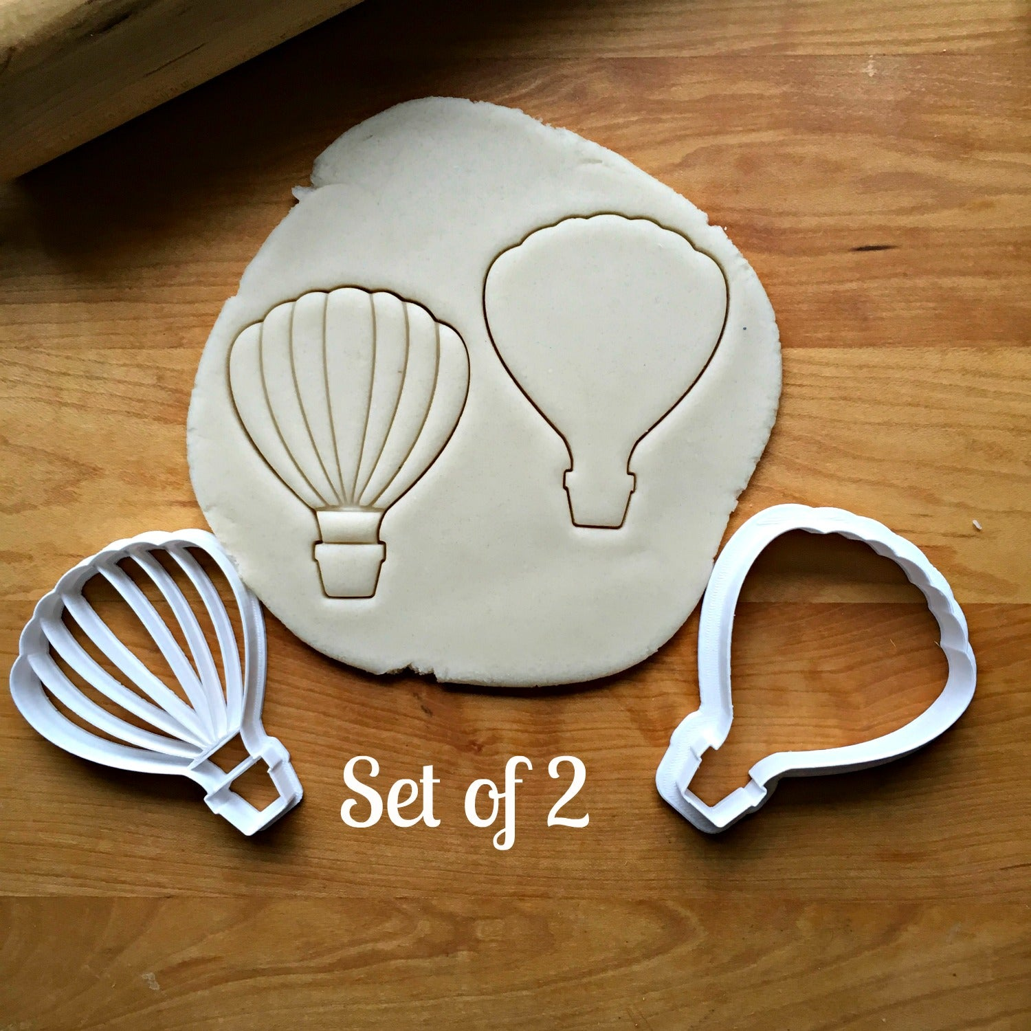 Set of 2 Hot Air Balloon Cookie Cutters/Multi-Size/Dishwasher Safe