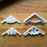 Set of 2 Stealth Bomber Jet Cookie Cutters/Multi-Size/Dishwasher Safe