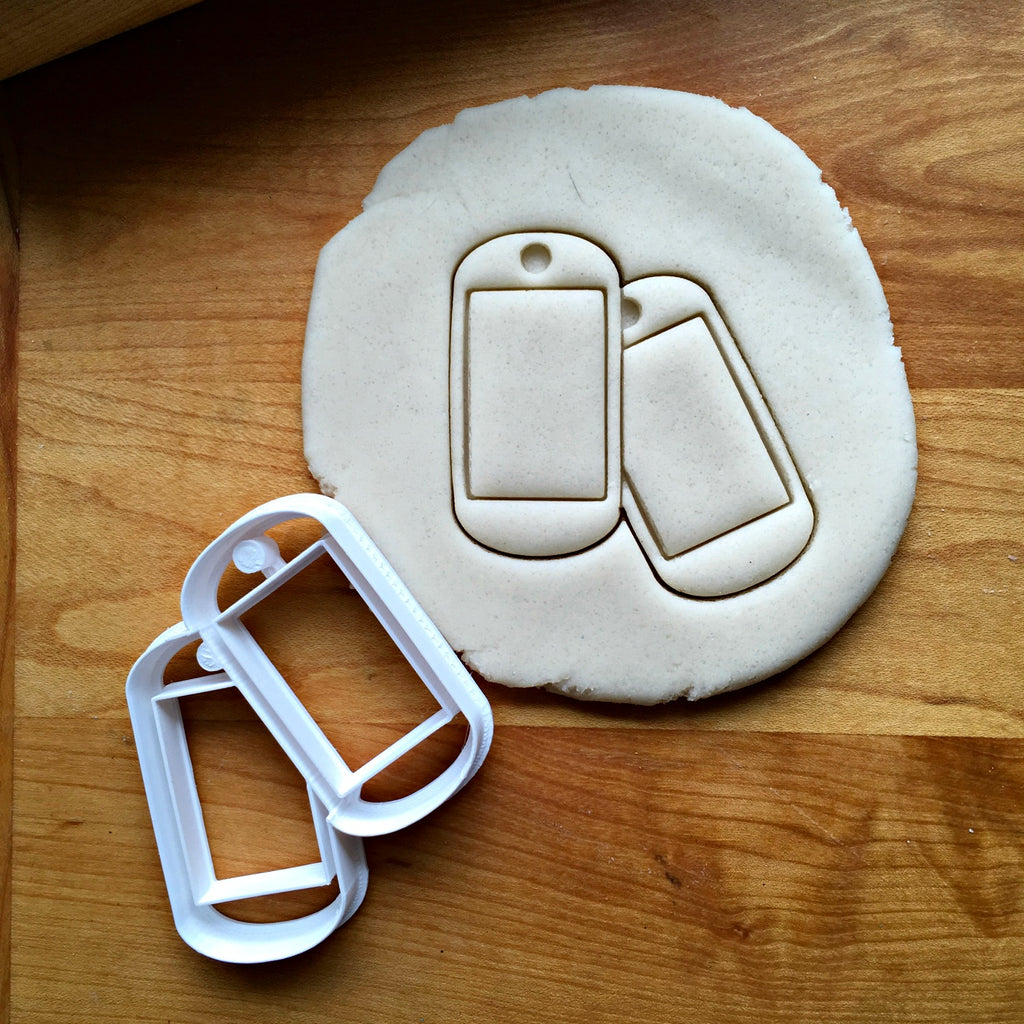 Military Dog Tags Cookie Cutter/Multi-Size/Dishwasher Safe