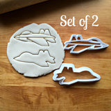 Set of 2 Fighter Jet Cookie Cutters/Multi-Size/Dishwasher Safe