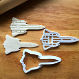 Set of 2 Spy Plane Cookie Cutters/Multi-Size/Dishwasher Safe