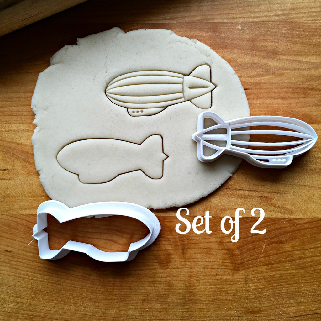 Set of 2 Blimp Cookie Cutters/Dishwasher Safe
