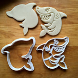 Set of 2 Smiling Shark Cookie Cutters/Dishwasher Safe