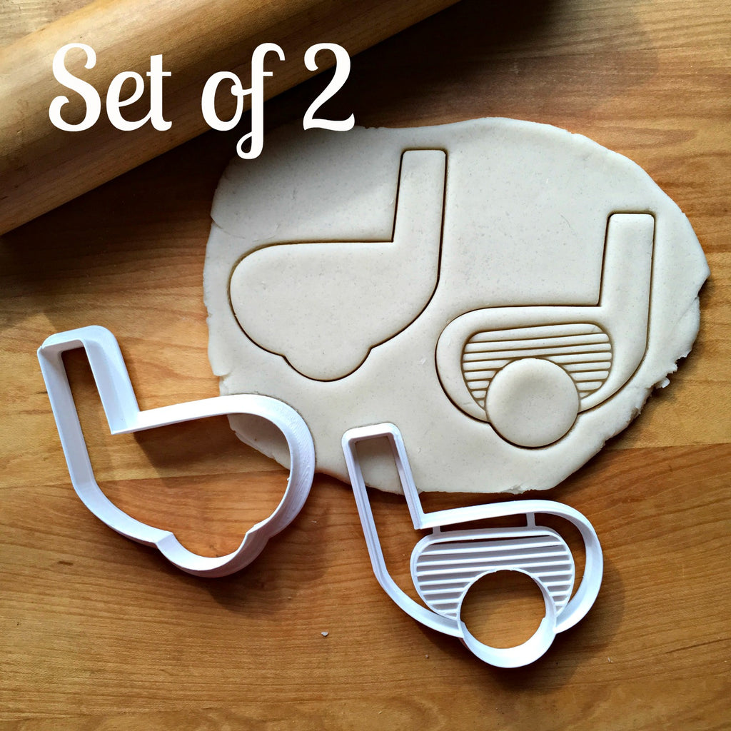 Set of 2 Golf Club Cookie Cutters/Dishwasher Safe