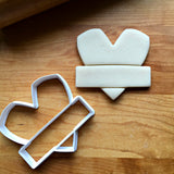 Heart with Banner Cookie Cutter/Dishwasher Safe