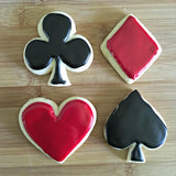 Set of 4 Playing Card Shapes Cookie Cutters/Dishwasher Safe
