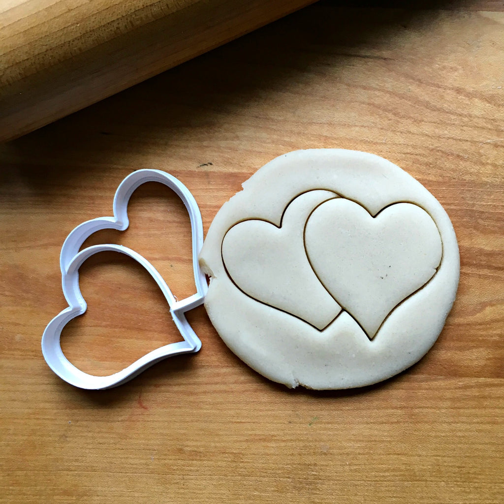 Double Hearts Cookie Cutter/Dishwasher Safe