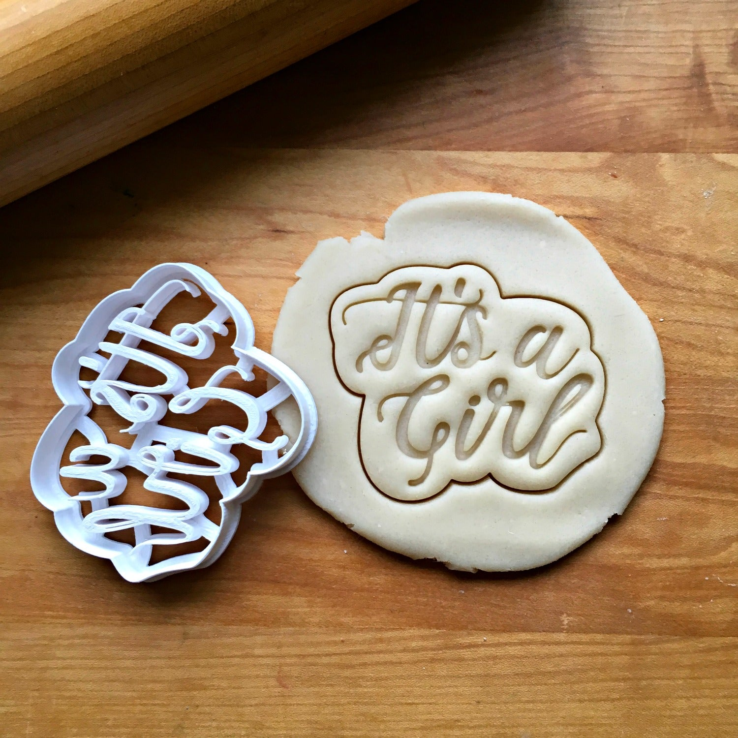 It's A Girl Script Cookie Cutter/Dishwasher Safe