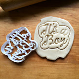 It's A Boy Script Cookie Cutter/Dishwasher Safe