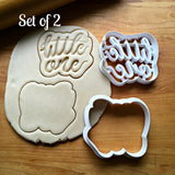 Set of 2 Little One Script Cookie Cutters/Dishwasher Safe