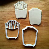 Set of 2 French Fries Cookie Cutters/Dishwasher Safe