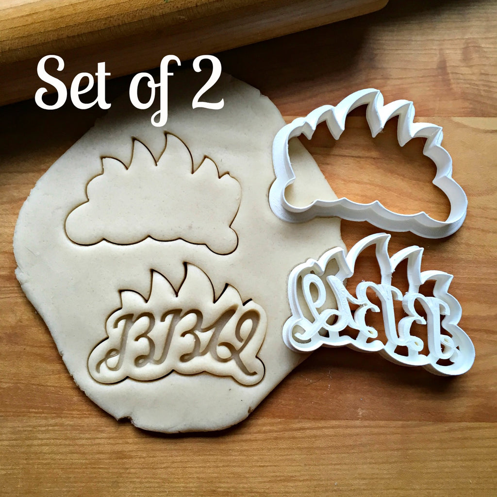 Set of 2 BBQ Cookie Cutters/Dishwasher Safe