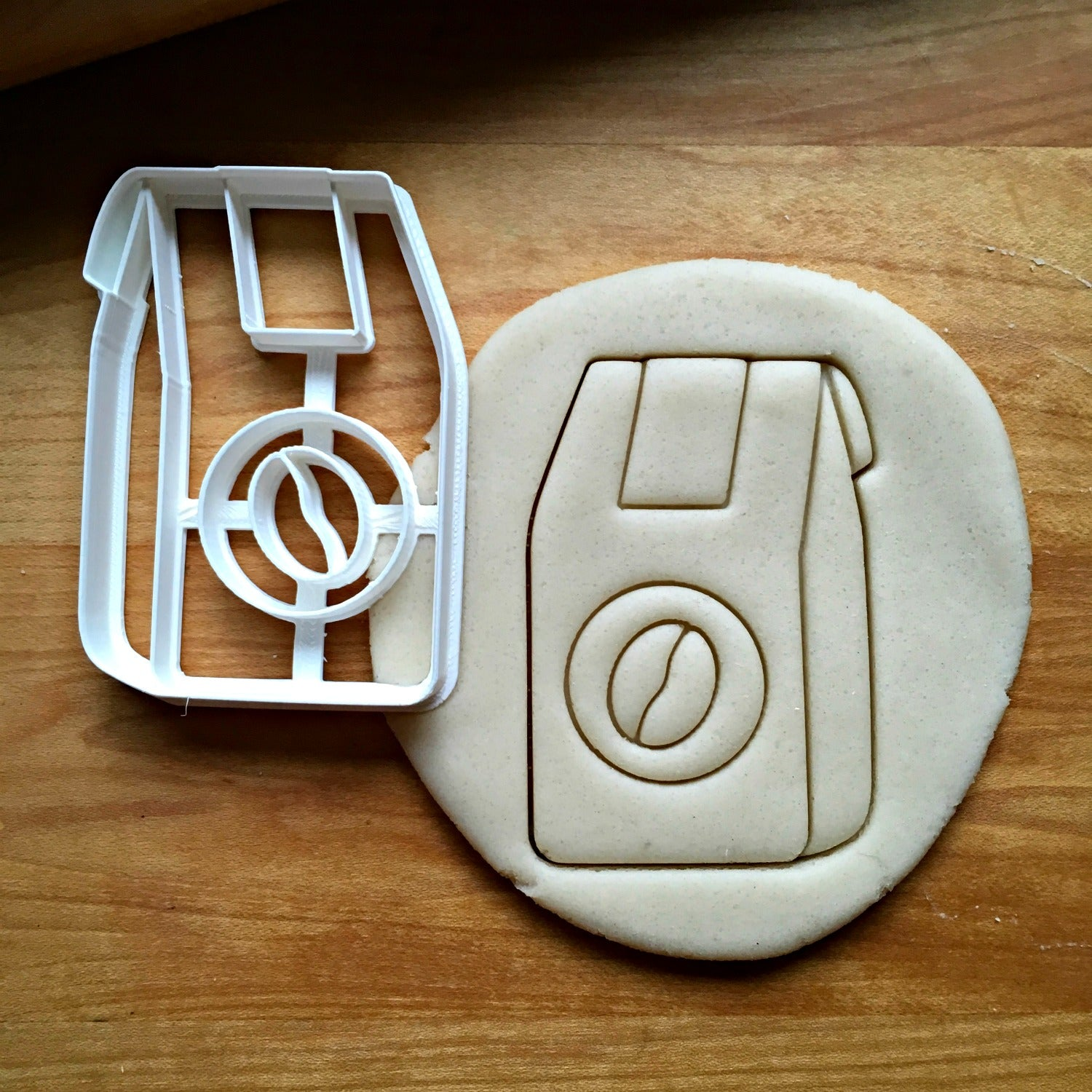 Coffee Bean Bag Cookie Cutter/Dishwasher Safe