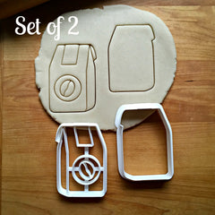 Set of 2 Coffee Bean Bag Cookie Cutters/Dishwasher Safe