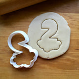 Bubble Number 2 Cookie Cutter/Dishwasher Safe