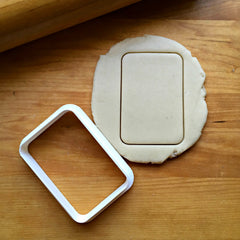 Rounded Rectangle Cookie Cutter/Dishwasher Safe