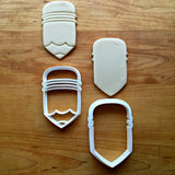 Set of 2 Chubby Pencil Cookie Cutters/Dishwasher Safe