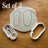 Set of 2 Paper Clip Cookie Cutters/Dishwasher Safe
