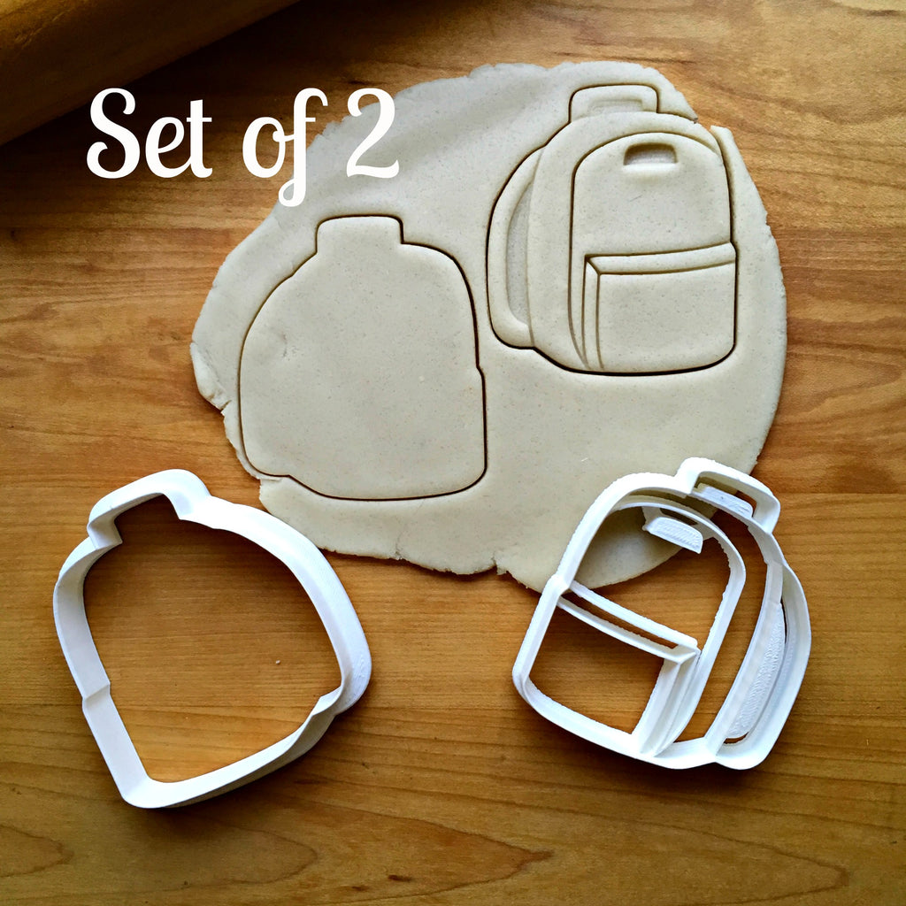 Set of 2 Book Bag Cookie Cutters/Dishwasher Safe